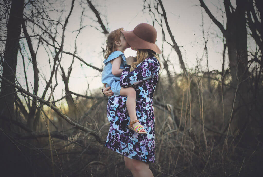 Boho Style Mommy & Me Maternity Picture