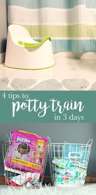4 Tips to Potty Train in 3 Days | Shopaholic & a Baby Blog