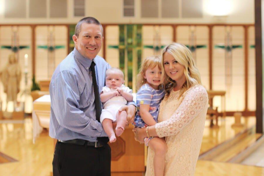 Family at Baptism