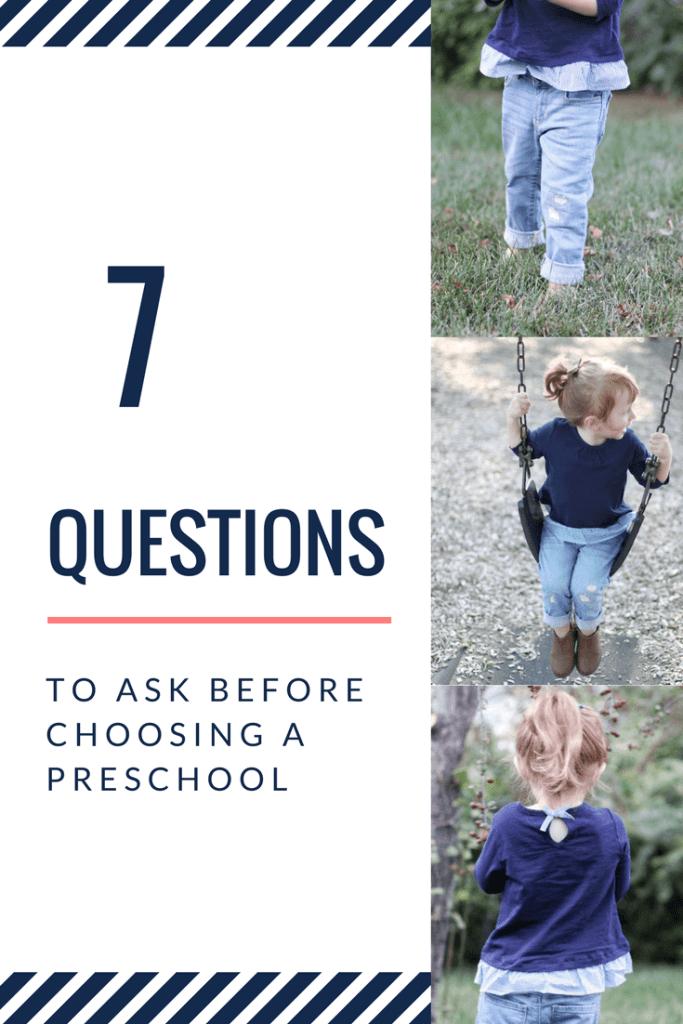 7 questions to ask before choosing a preschool