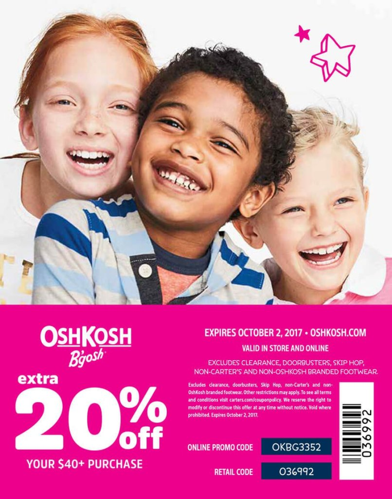 Osh Kosh 20% Coupon