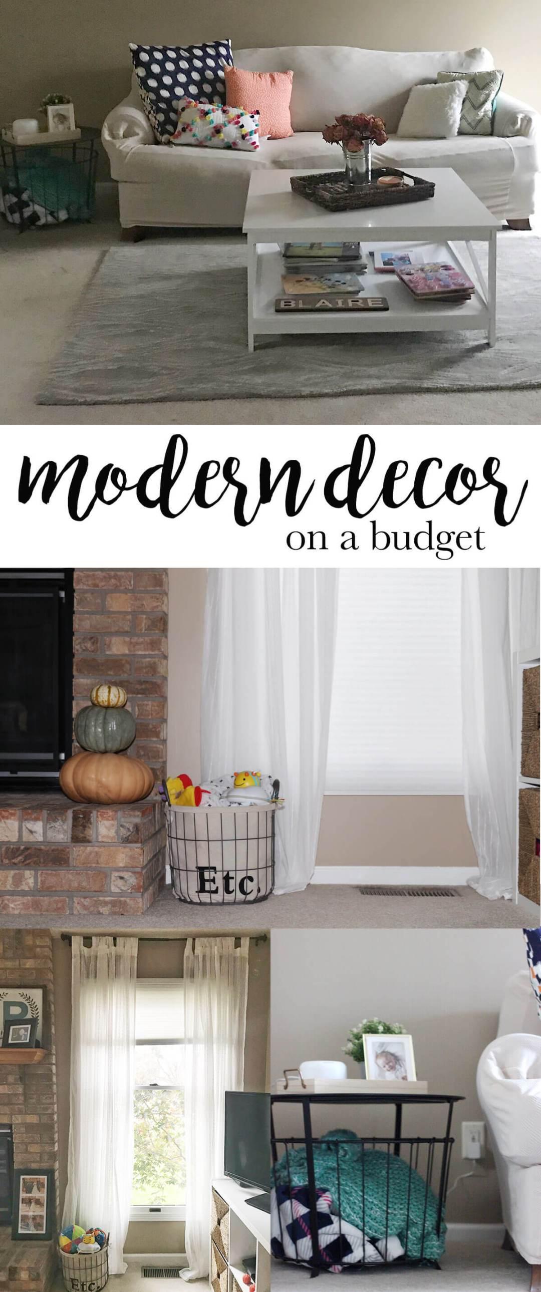 modern decor on a budget | Shopaholic & a Baby blog