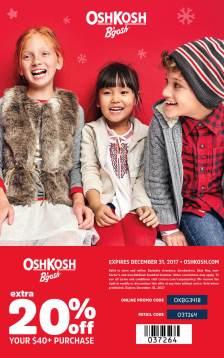 Osh Kosh 20% off Coupon December 2017