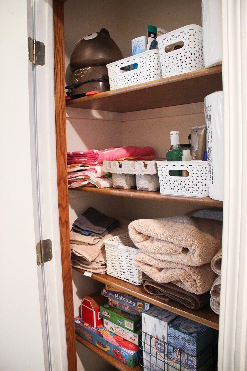 Organized Linen Closet ...