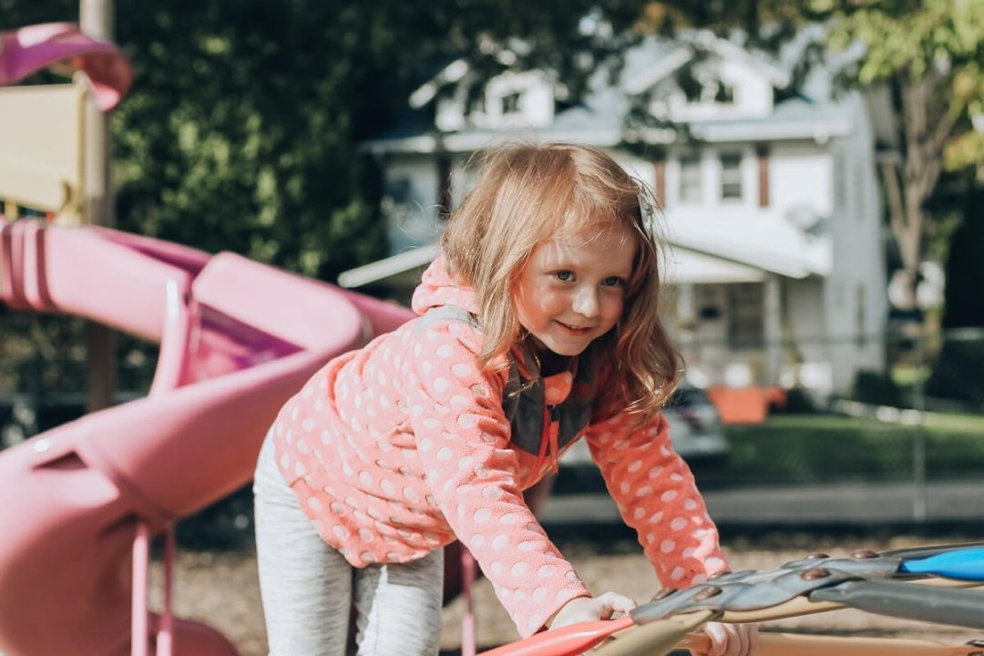 Blaire on the playground