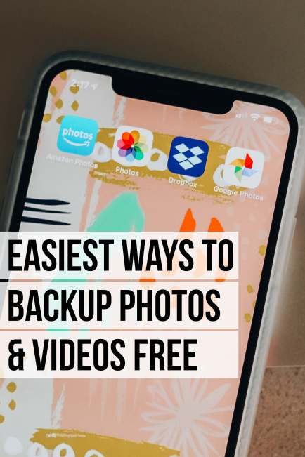 Easiest ways to backup photos and videos for free