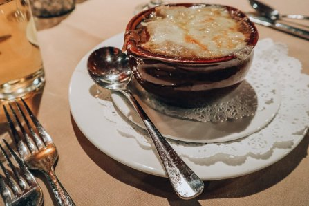 The Woodlands Restaurant at Eagle Ridge in Galena, IL - French Onion Soup