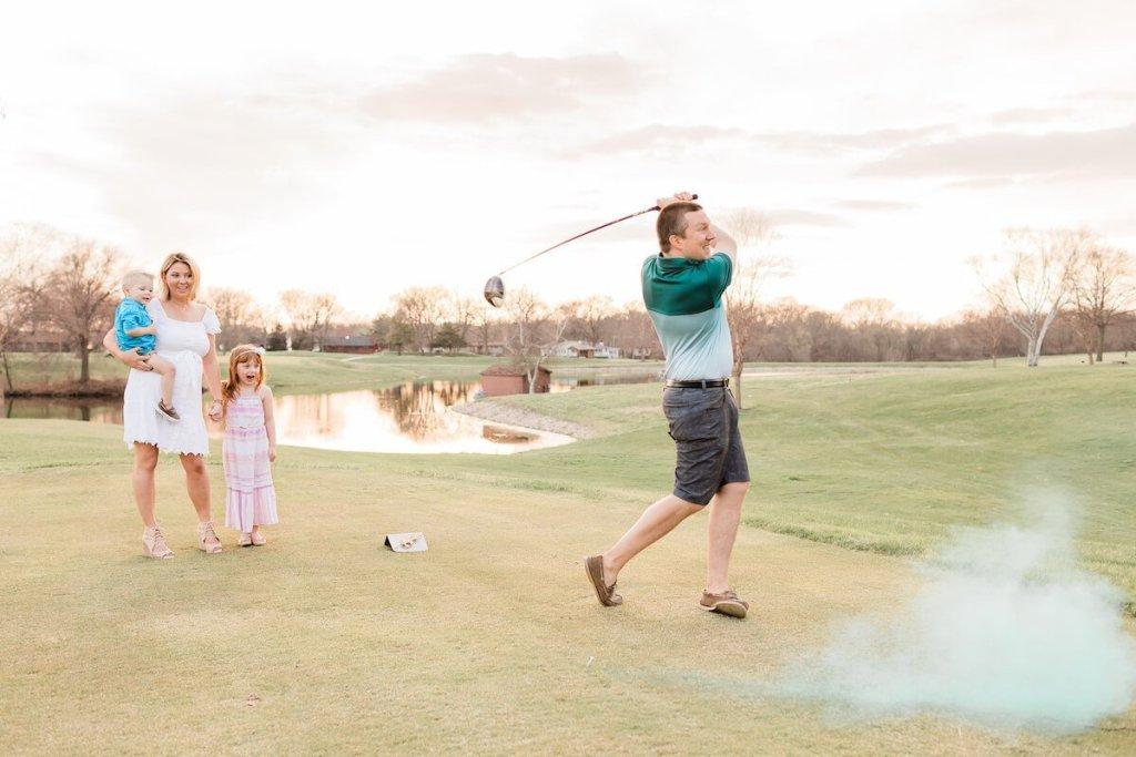 Golf Course Exploding Golf Ball Gender RevealGolf Course Exploding Golf Ball Gender Reveal