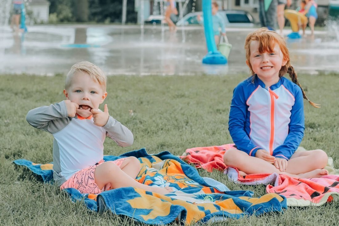 Lincoln Park in Bettendorf, Iowa Splash Pad - Free Splash Pad in the Quad Cities