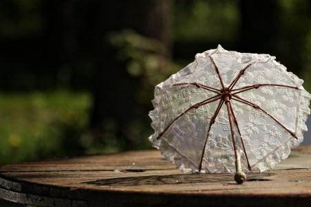 白い日傘 意味ない