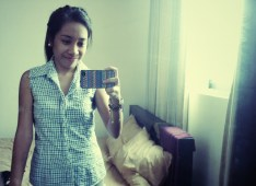Collared Checkered Top for $1