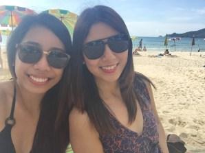 By the beach!