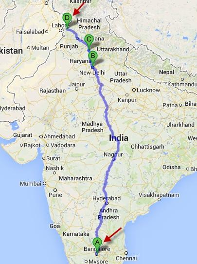 From Bangalore to Amritsar( via New Delhi & Kurukshetra)