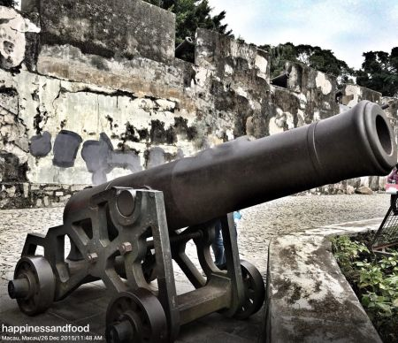 One of the cannons.