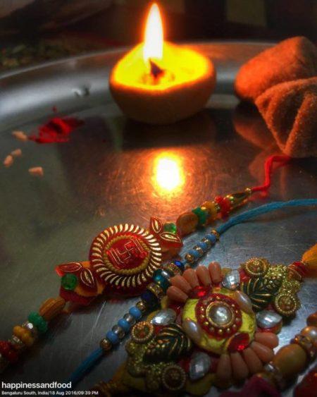 The diya, the Rakhis and RakshaBandhan