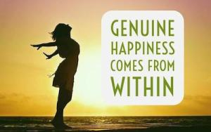 Happiness Comes From Within