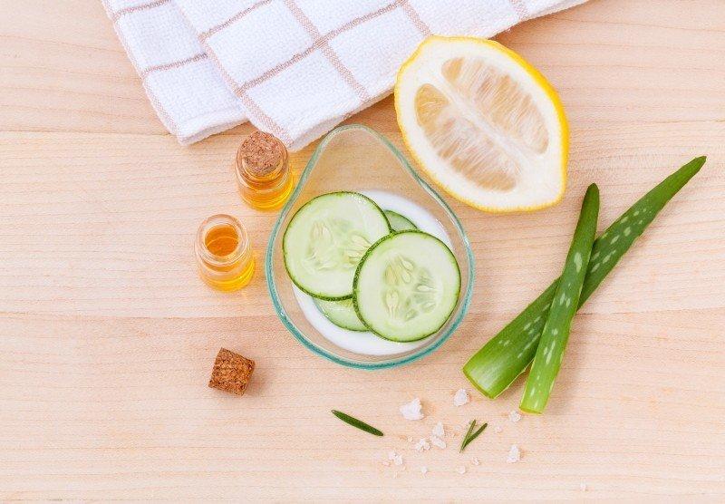soin pour la peau concombre citron