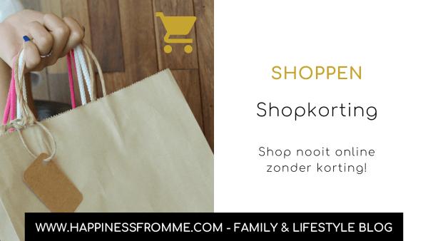 Shopkorting, shop nooit online zonder korting!