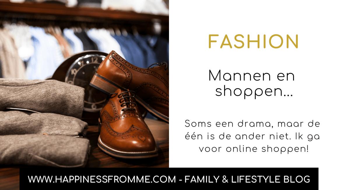 Mannen en shoppen