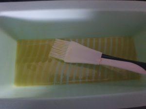 Siliconen vorm insmeren suikerbrood