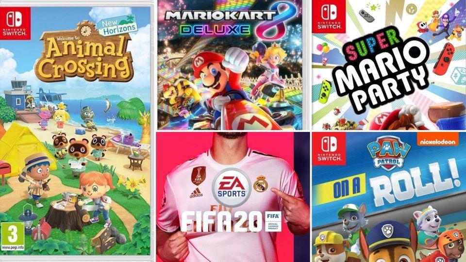 Nintendo Switch spelletjes tijdens de Kerstvakantie