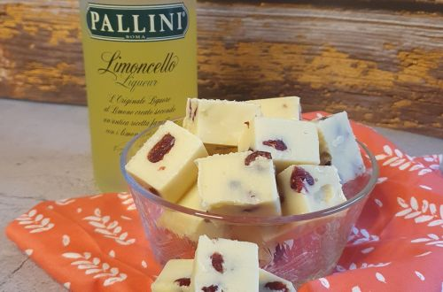 Limoncello Cranberry Fudge