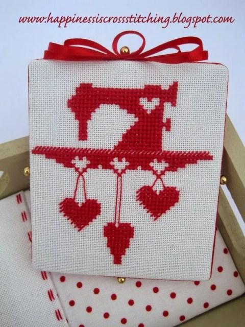 Cross stitch pin keep by Lynn B