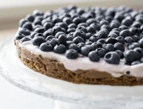 Blaubeer Skyr Kuchen
