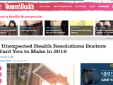 Dr. Ambardar talks to Women's Health about Unconventional New Year's Resolutions