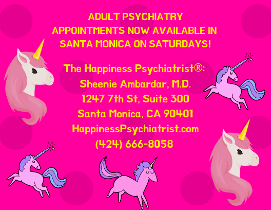 Saturday Santa Monica Psychiatry and Psychotherapy Appointments now available