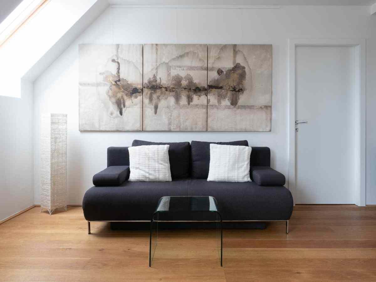 Acrylbild 'Birds' – 240 x 110 cm dreiteilig