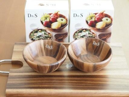 D&S 天然木アカシアのサラダボウル&カッティングボード