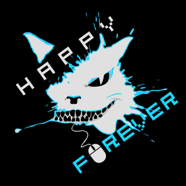 Happy_Forever_logos_black_blue_3