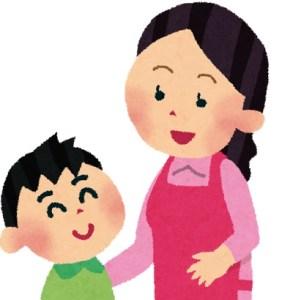 ママと会話男の子ども