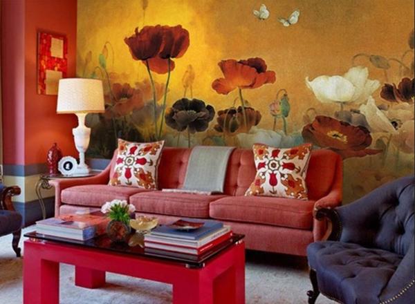 Жълто и червено-декорация на дома-фън шуй ц