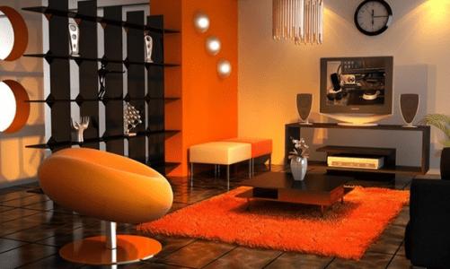 Модерен интериор: Идеи за декорация в оранжево