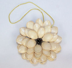flower ornament made from seeds, 2008