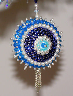 bead and sequin ornament, circa 1970