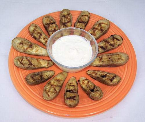 Grilled Eggplant with Tahini Yogurt Sauce