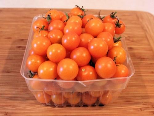 quart box of Sungold tomatoes
