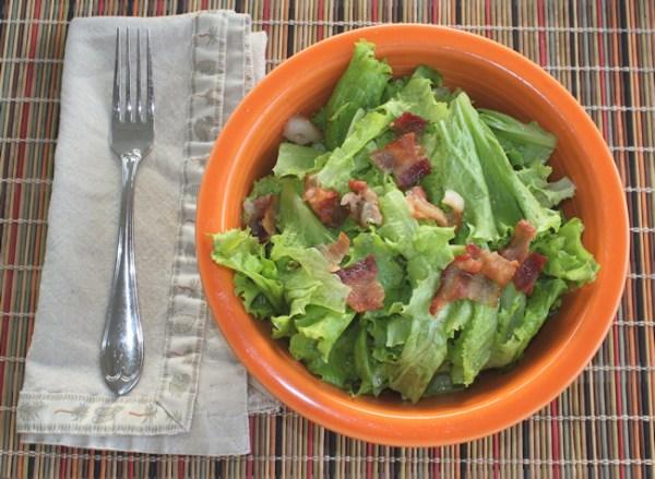 Classic Wilted Lettuce Salad with Slobolt lettuce