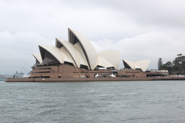view of Sydney Opera House from Harbour