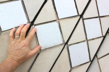 closeup of glazed granite tiles