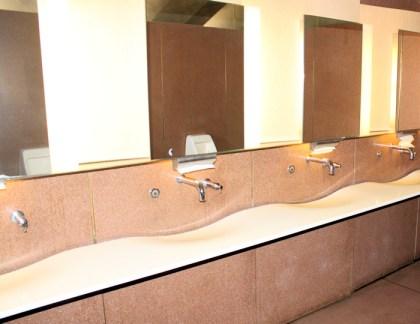 pink granite in washrooms