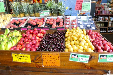 fruit display in Prahran Market