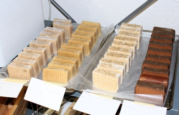 soap curing after cutting