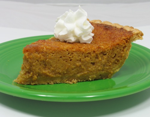 pumpkin pie made from neck pumpkin
