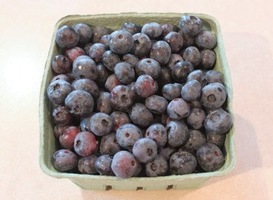 first blueberries of 2013