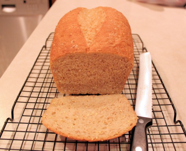 Split Top loaf of Whole Grain Bread