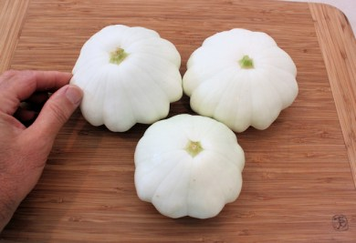 white scalloped squash